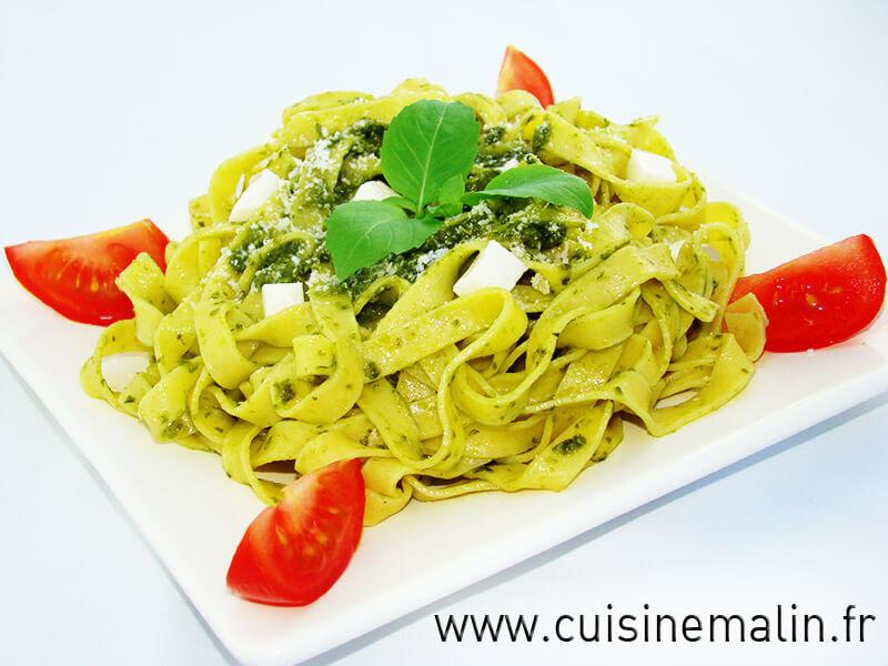 Tagliatelles au Pesto  -  Cliquez pour Agrandir