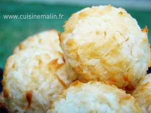 noixdeCoco, #RocherCocoFacile, #dessertMalin, #CuisineMalin