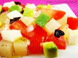 Salade Fraicheur en cube du soleil par Cuisine Malin