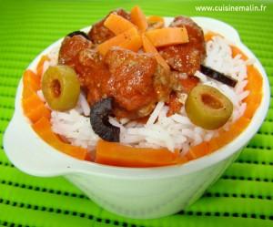 Cliquez pour Agrandir  -  Sauté de Veau Marengo Malin