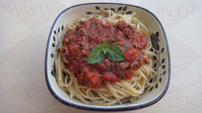 PATES SPAGHETTIS BOLOGNAISE Cuisine Malin