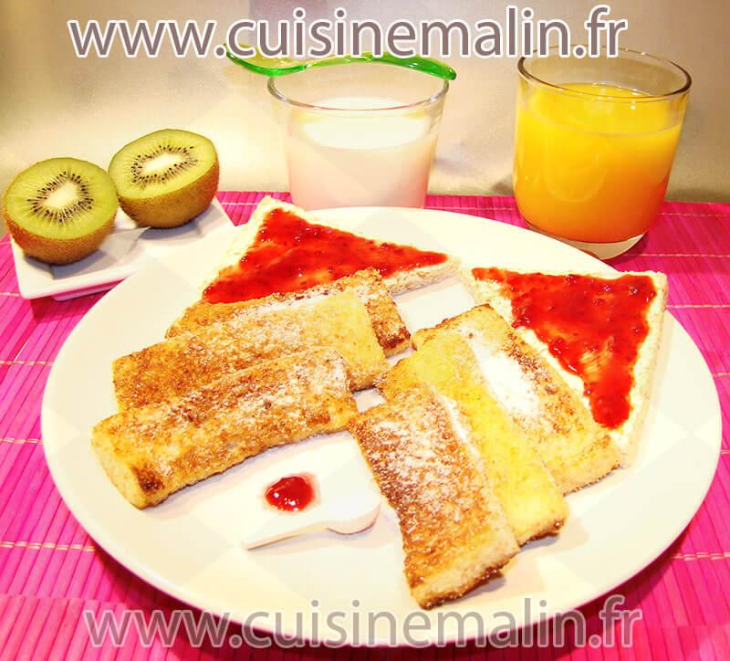 Le Pain Perdu - Lost Bread - par Cuisine Malin. Un Classique de classique. Le basique pur. #LostBread, #PainPerdu, #CuisineMalin,#PainGrillé, #Morning