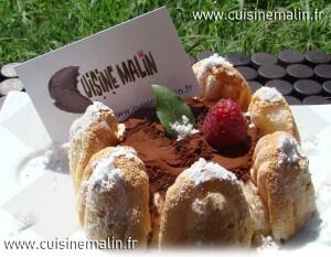 Dessert Charlotte au Chocolat et Framboise