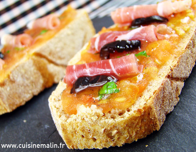 Pan con Tomate saveur d'Espagne par Cuisine Malin. #PainTomate, #Pain, #Tomate, #CuisineMalin, #Iberique, #Jambon, #EntreeFraicheur, #PainHuileTomateJambon