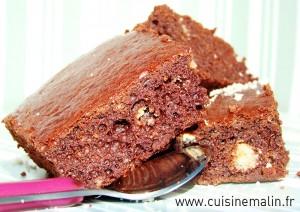 Brownie  Cake Rapide & Allégé Facile par Cuisine Malin