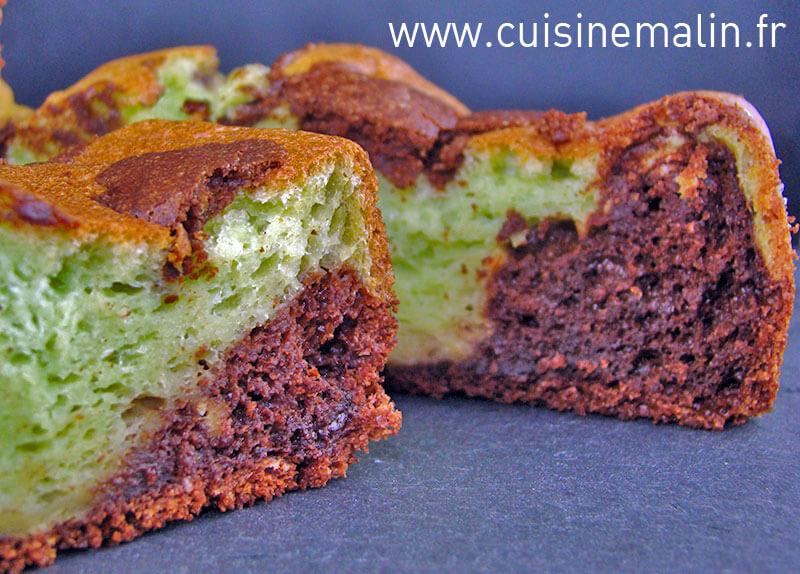 Cake au Chocolat Facile Pistache par Cuisine malin
