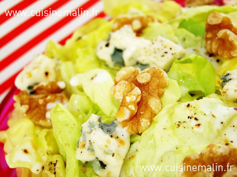 Salade Noix-Roquefort - Cuisine Malin