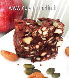 Barre de Cereales au chocolat par Cuisine Malin.