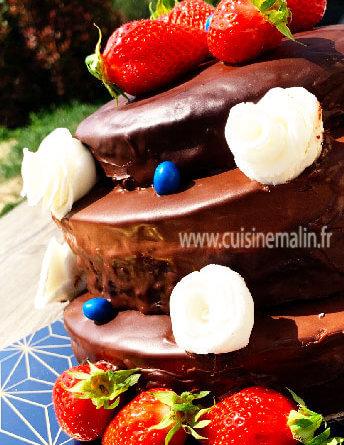 Gâteau d'Anniversaire à 3 étages par Cuisine Malin
