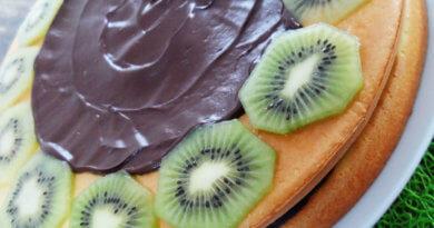 Gâteau Kiwis Chocolat Noir Cuisine Malin